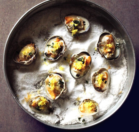 Littleneck Clams with Lemon Thyme and Parmesan