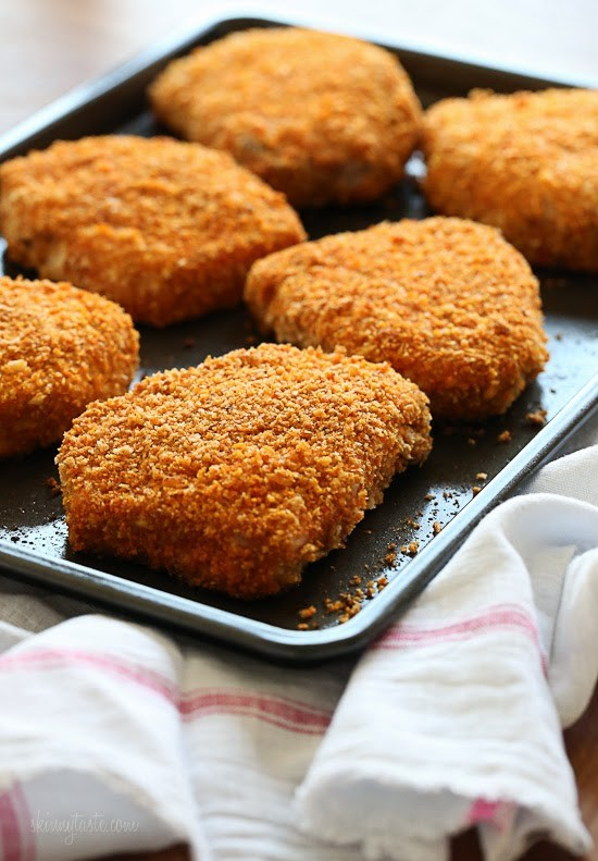 Oven Fried Breaded Pork Chops
