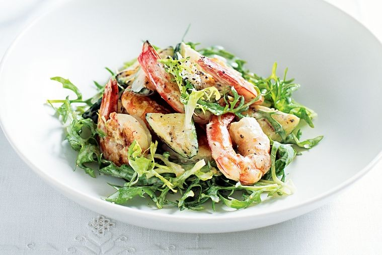 Prawn Salad with Avocado Cream
