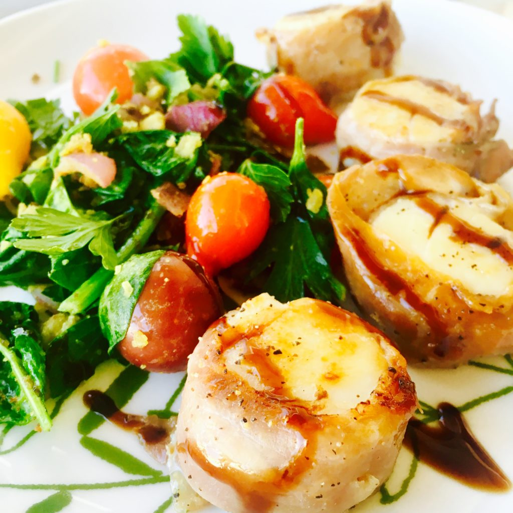 Prosciutto-Wrapped Scallops with Balsamic