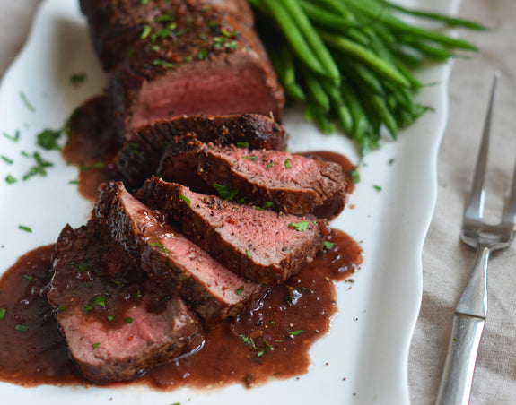 Roast Beef Tenderloin with Red Wine Sauce