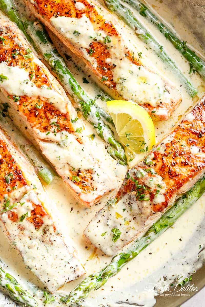 Salmon with Creamy Dijon Sauce