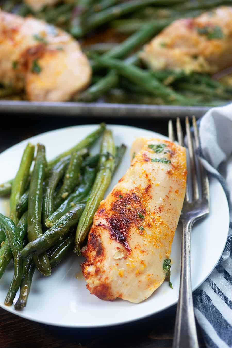 Sheet Pan Chicken & Green Beans