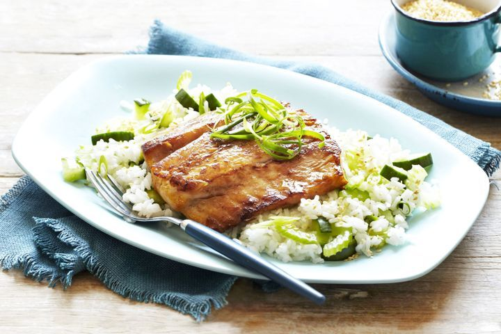 Soy and Sesame Marinated Barramundi