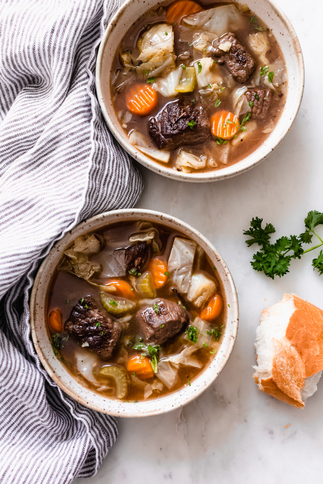 Warm & Hearty Cabbage Beef Soup
