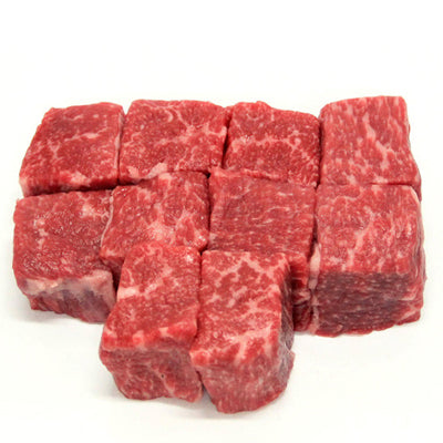 Frozen - 500gm Pack Beef Brisket Cubes 100% grass fed