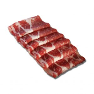 Kurobuta Pork Collar Shabu Shabu - 500gm tray