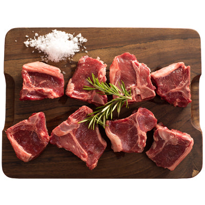CHILLED 10 x 90-100gm Lamb Loin Chops - 900-1kg