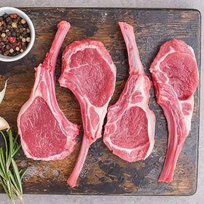 FROZEN Packet of 4 Lamb chops - 390-410gm