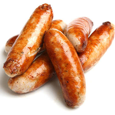FROZEN Raw Pork Thyme & Garlic Sausages - 1kg