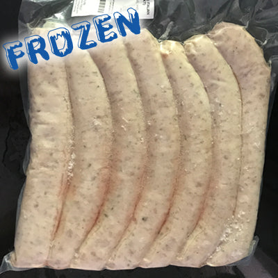 FROZEN Raw Italian Sausages - 1kg