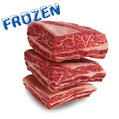 FROZEN 4 x 250gm Beef Short Ribs 100% grass fed