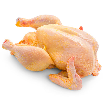FROZEN French Yellow Whole chicken (corn fed) 1.3kg