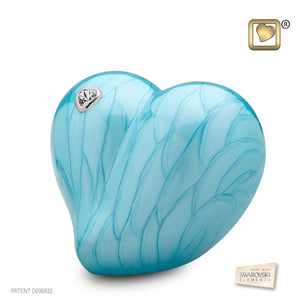 Loveheart Infant/Child/Pet Funeral Blue Cremation Urn, 30 Cubic Inches