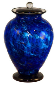 XL/Companion 400 Cubic Inch Venice Water Funeral Glass Cremation Urn for Ashes
