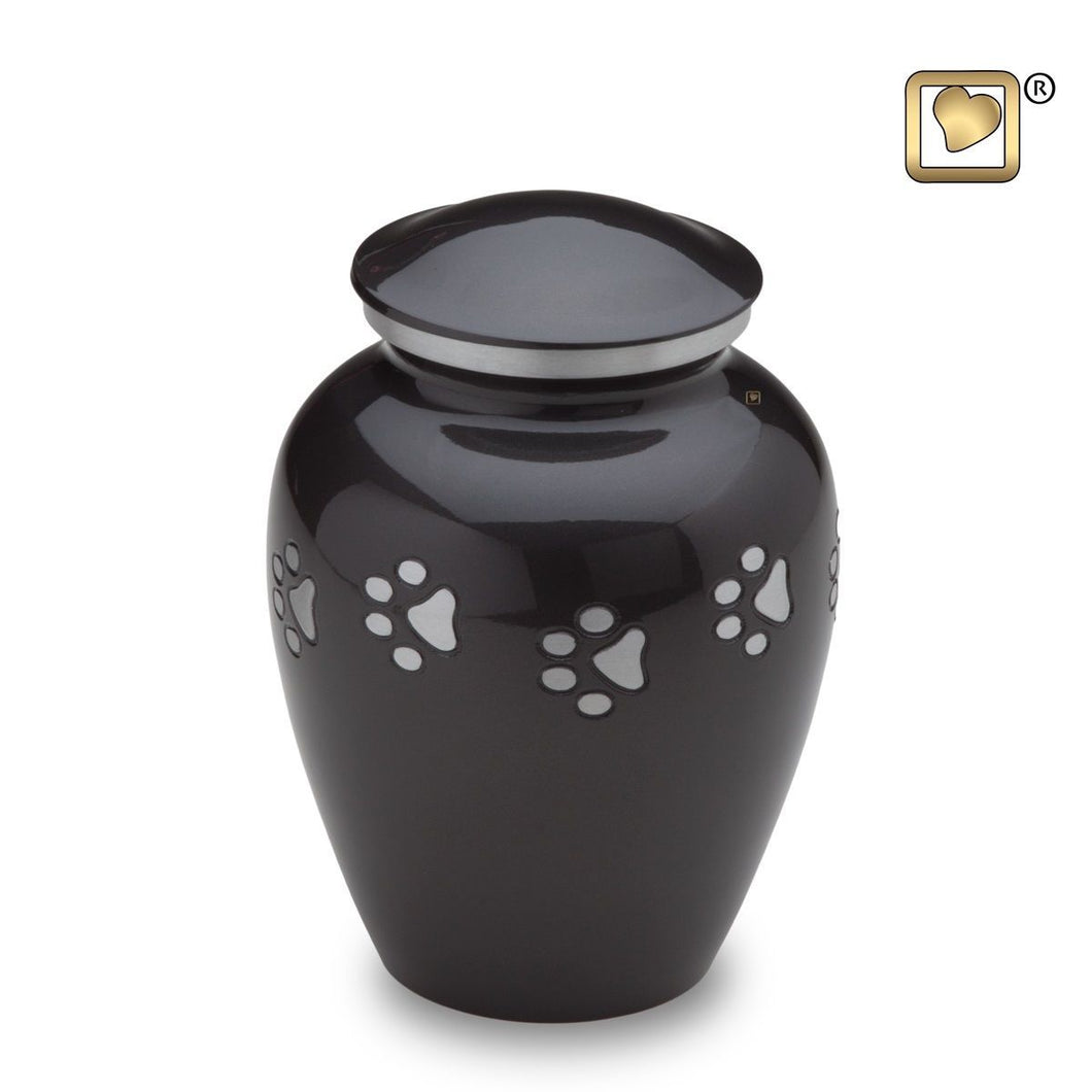 Midnight Classic Medium Pet Funeral Cremation Urn, 70 Cubic Inches