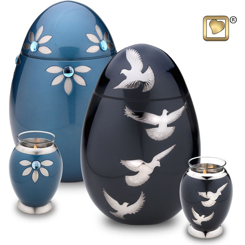 Nirvana Azure Child/Pet Funeral Cremation Urn,  40 Cubic Inches