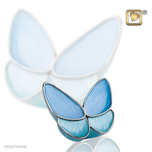 Blue Butterfly Wings of Hope Adult Funeral Cremation Urn Ashes,175 Cubic Inches