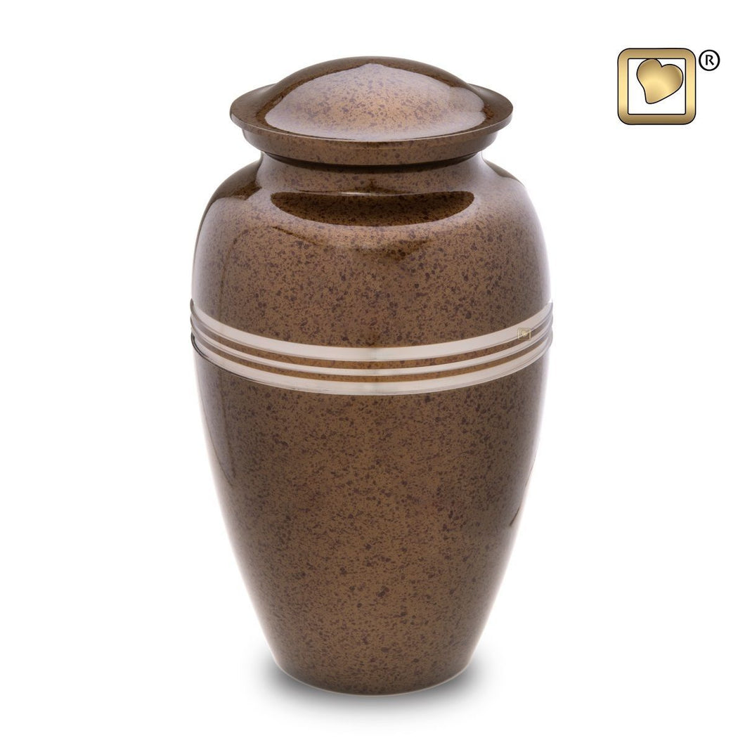 Auburn Classic Speckled Adult Funeral Cremation Urn, 200 Cubic Inches