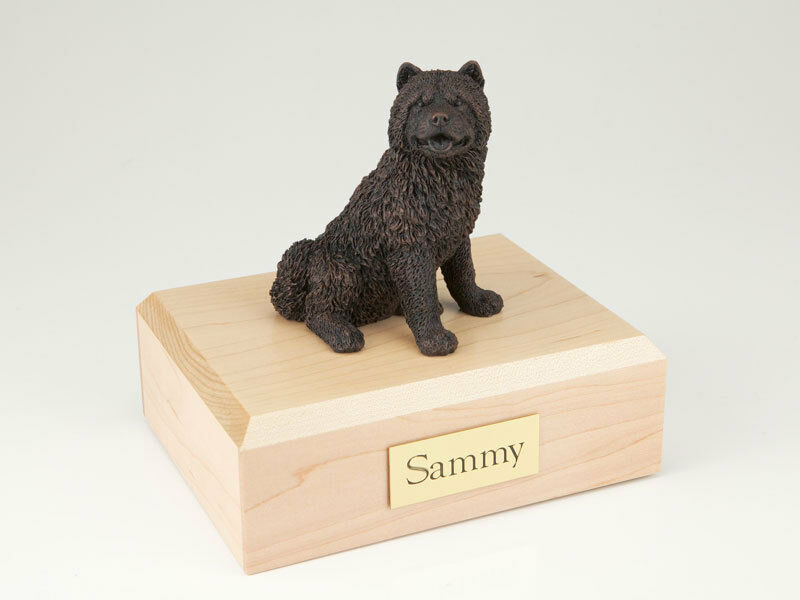 Chow Chow Pet Funeral Cremation Urn Available in 3 Different Colors & 4 Sizes