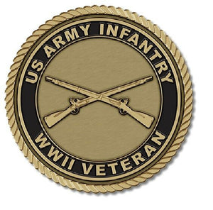 Army Infantry Medallion for Box Cremation Urn/Flag Case - 4 Inch Diameter
