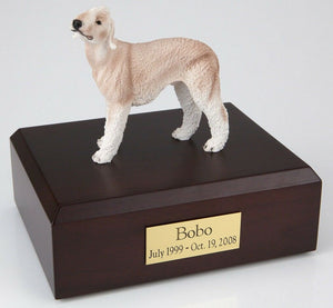 Bedlington Terrier Pet Funeral Cremation Urn Avail in 3 Diff Colors & 4 Sizes