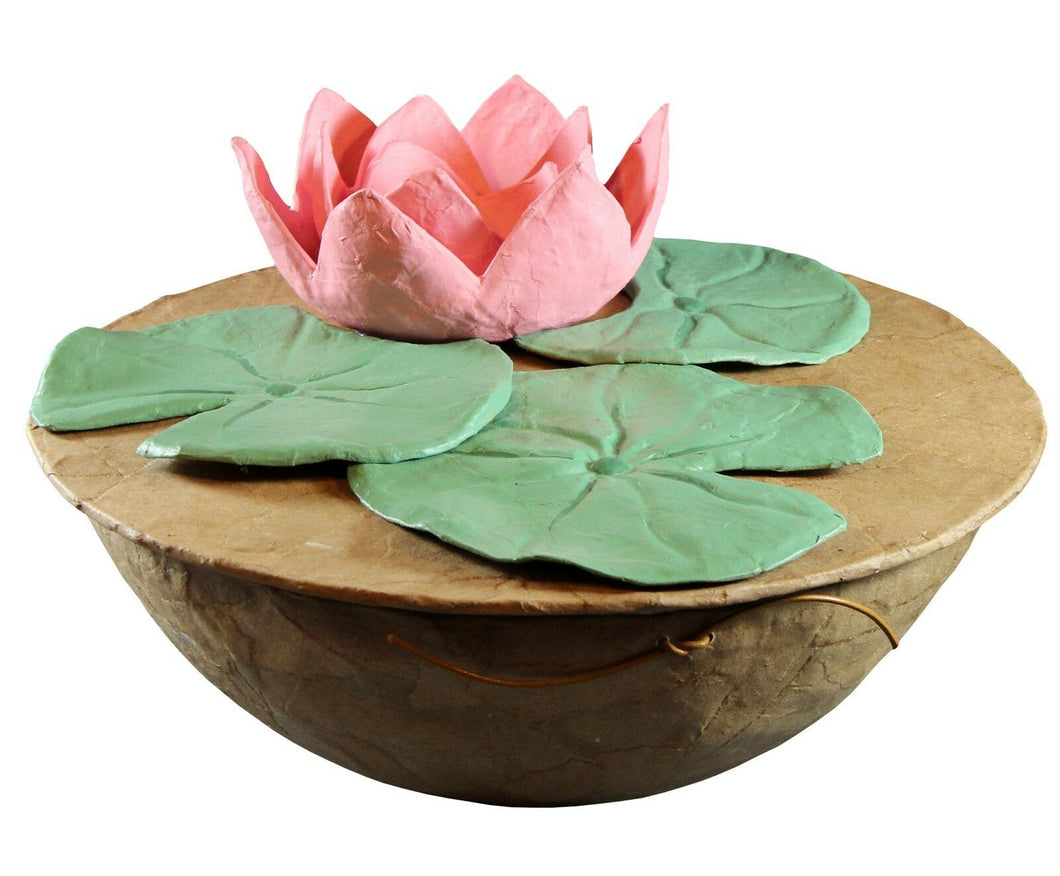 Biodegradable Lotus Urn, Hand Made Adult/Companion Funeral Cremation Urn