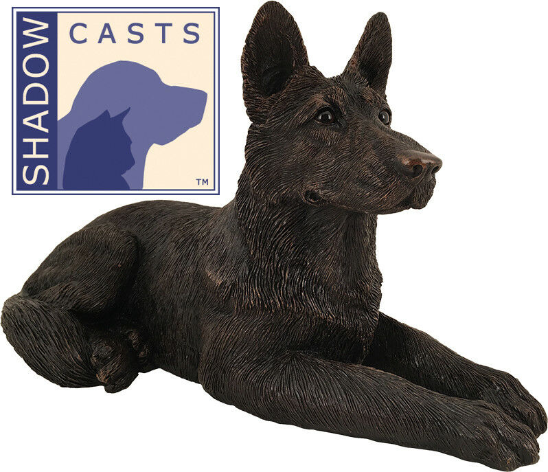 Large 100 Cubic Ins German Shepherd ShadowCasts Bronze Urn for Ashes