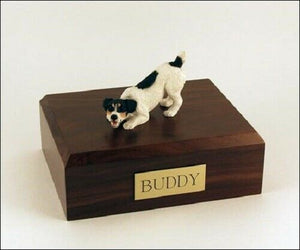 Jack Russell Terrier Black Figurine Pet Cremation Urn Avail. 3 Colors & 4 Sizes