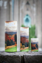 Load image into Gallery viewer, Large/Adult 200 Cubic Inch Autumn Trees Scattering Tube Cremation Urn for Ashes