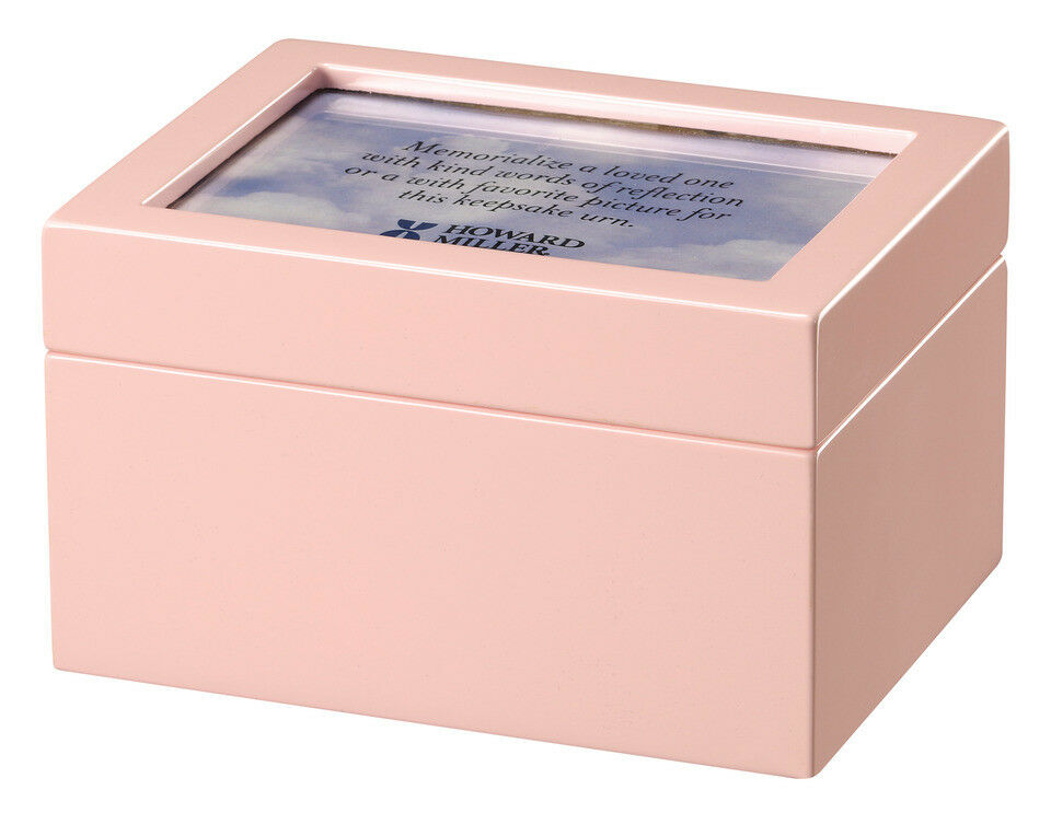 Howard Miller 800-206(800206) Precious Pink Memorial Funeral Cremation Urn Chest