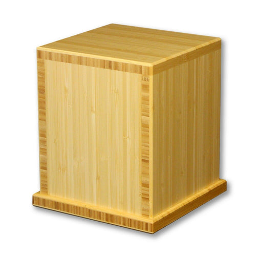 Biodegradable, Eco-friendly Bamboo Adult Funeral Cremation Urn, 210 Cubic Inches