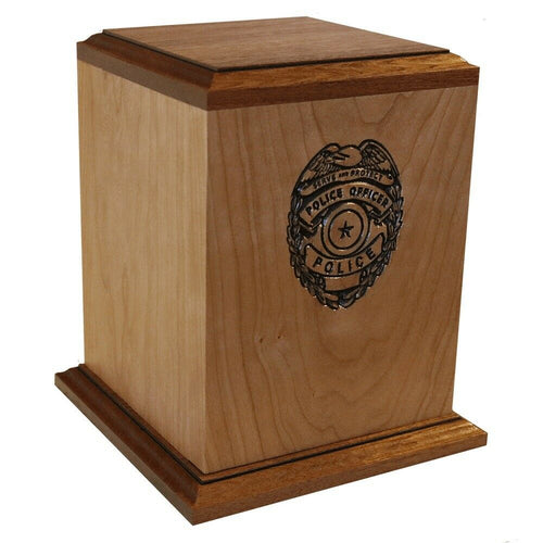 Large/Adult 225 Cubic Inch Law Enforcement Funeral Cremation Urn - Made in USA