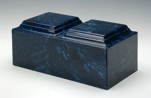 Classic Marble Navy Companion Funeral Cremation Urn, 420 Cubic Inch TSA Approved