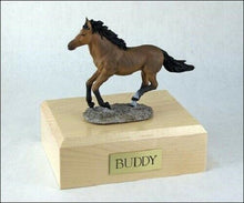 Load image into Gallery viewer, Bay Horse Figurine Funeral Cremation Urn Avail. in 3 Different Colors & 4 Sizes