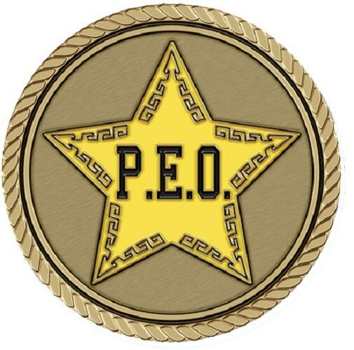 PEO Medallion for Box Cremation Urn/Flag Case - 2 Inch Diameter