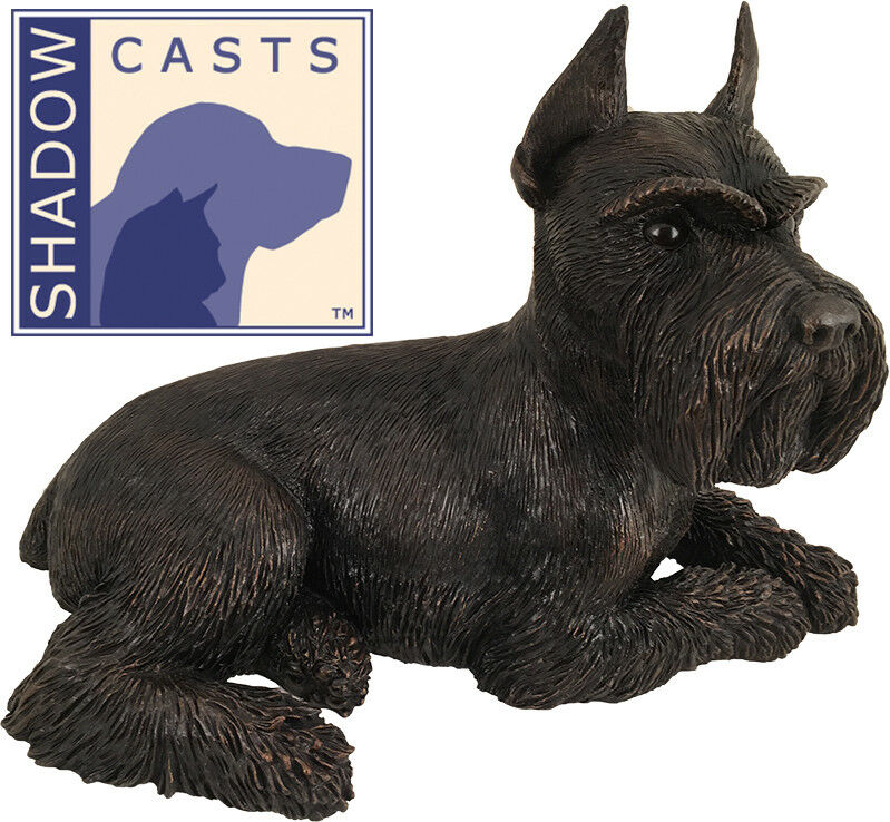 Large 125 Cubic Inches Schnauzer ShadowCasts Bronze Urn for Cremation Ashes