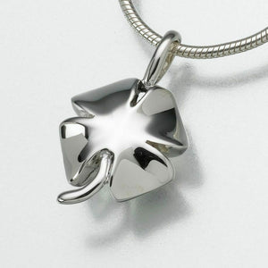 Sterling Silver Four Leaf Clover Memorial Jewelry Pendant Funeral Cremation Urn