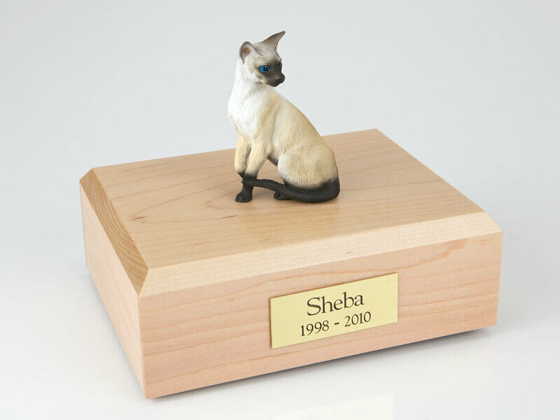 Siamese Cat Figurine Pet Cremation Urn Available in 3 Different Colors & 4 Sizes