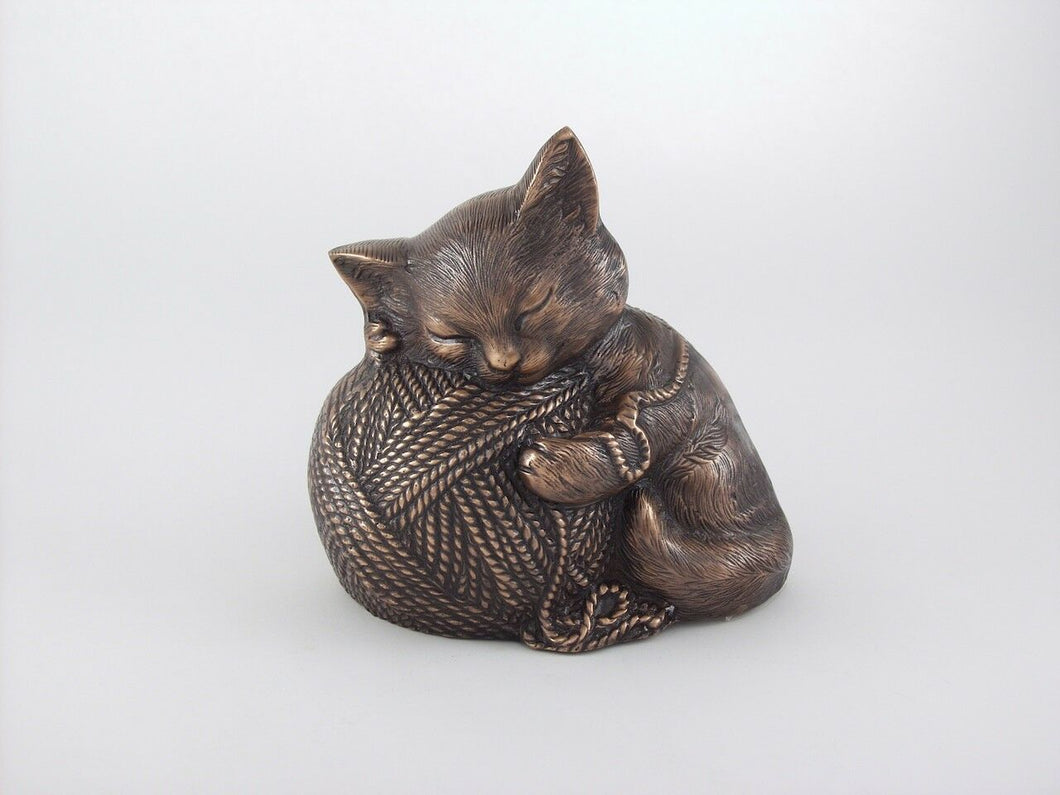 Small/Keepsake 40 Cubic Inches Copper Precious Kitty Urn for Cremation Ashes