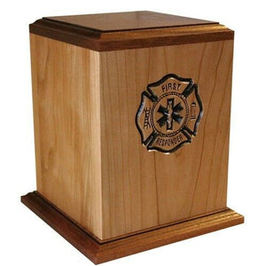 Large/Adult 225 Cubic Inch First Responder Funeral Cremation Urn - Made in USA