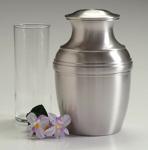 Large/Adult 220 Cubic Inch Pewter Poseidon Funeral Cremation Urn for Ashes