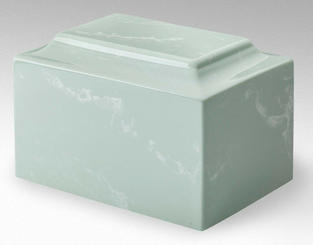 Small/Keepsake Marble L. Green 5 Cubic Inches Funeral Cremation Urn TSA Approved