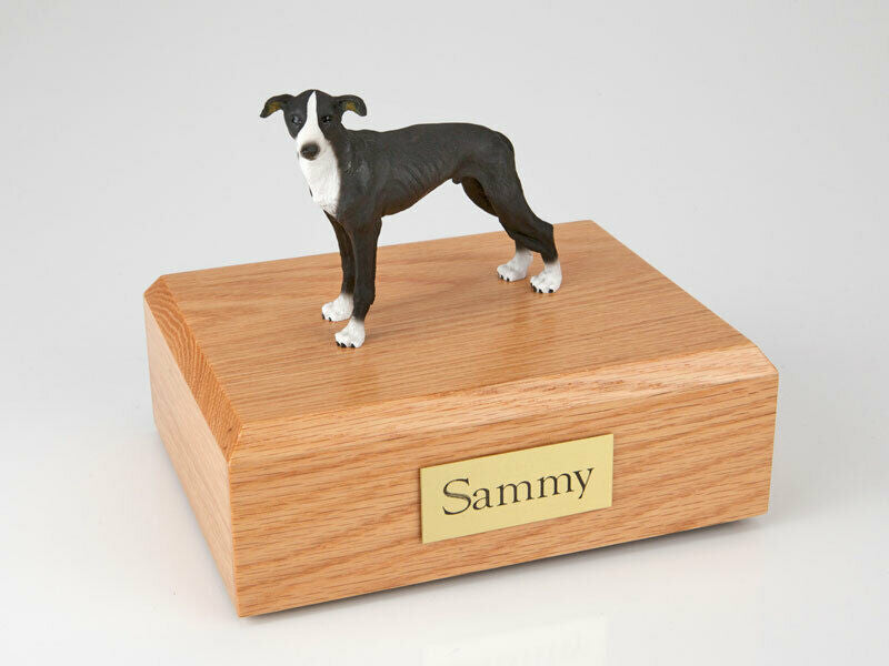Greyhound, Black Standing Pet Cremation Urn Available in 3 Diff Colors & 4 Sizes