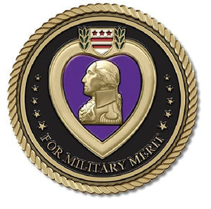 Purple Heart Medallion for Box Cremation Urn/Flag Case - 3 Inch Diameter