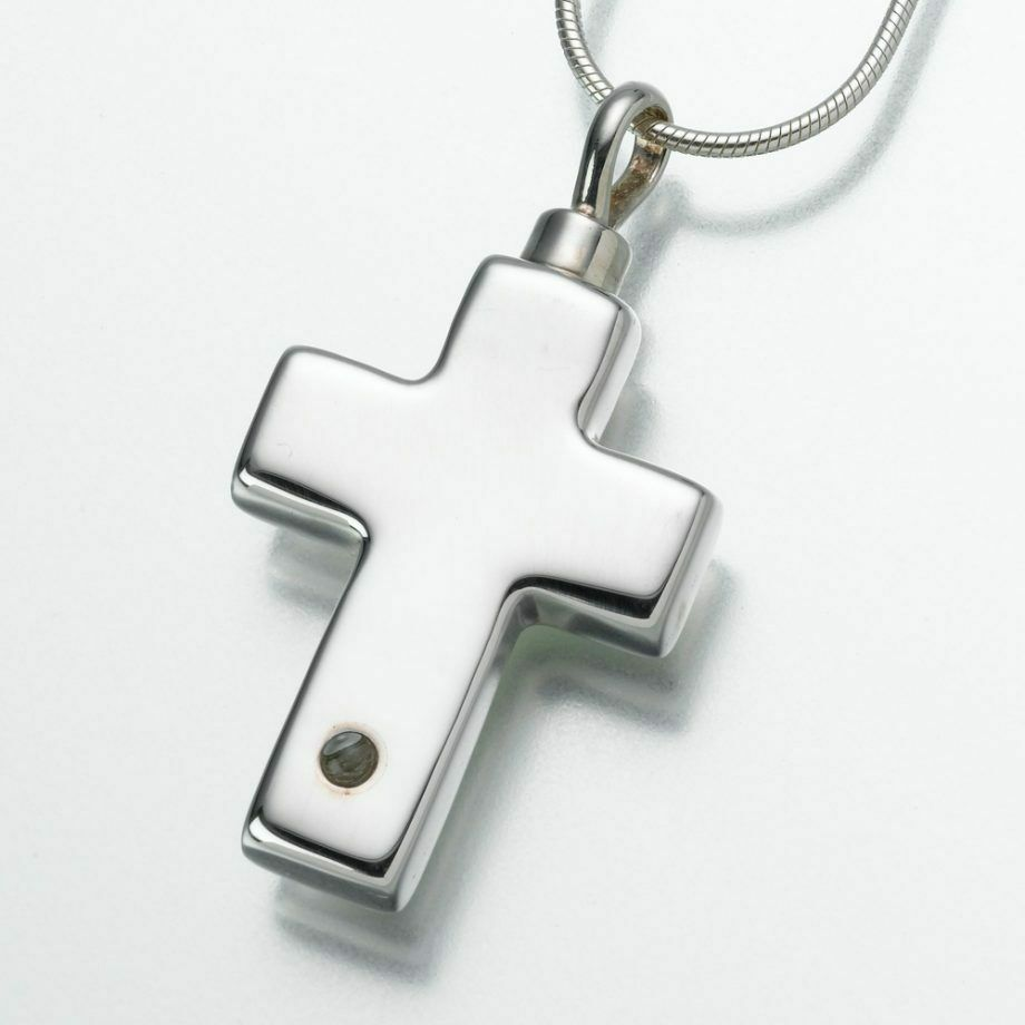Sterling Silver Cross Micro Picture Lens Memorial Jewelry Pendant