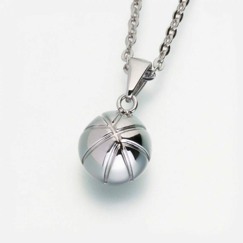 Stainless Steel Basketball Memorial Jewelry Pendant Funeral Cremation Urn