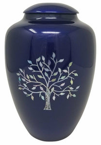 Large/Adult 200 Cubic Inch Fiber Glass Shell Art Soulful Tree Cremation Urn