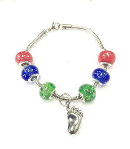 Fantastic Fall Murano Bead Cremation Bracelet Funeral Cremation Urn for Ashes