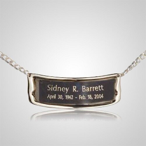 Personalized Bright Silver Color Name-Plate Medallion for Adult Cremation Urns